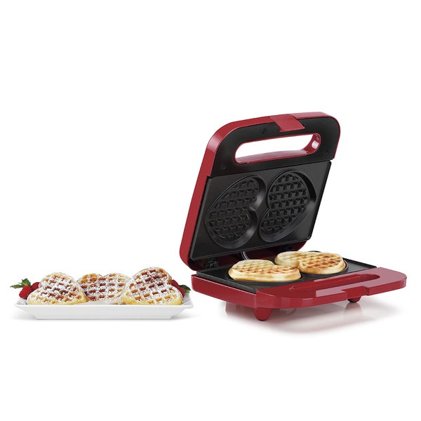 Holstein Housewares 2 Section Waffle Heart Maker