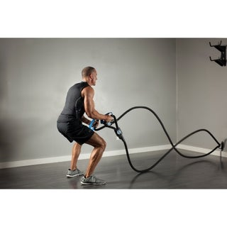 Battle Rope ST, combines Body Weight Strength Training and Battle Rope - Black/Blue