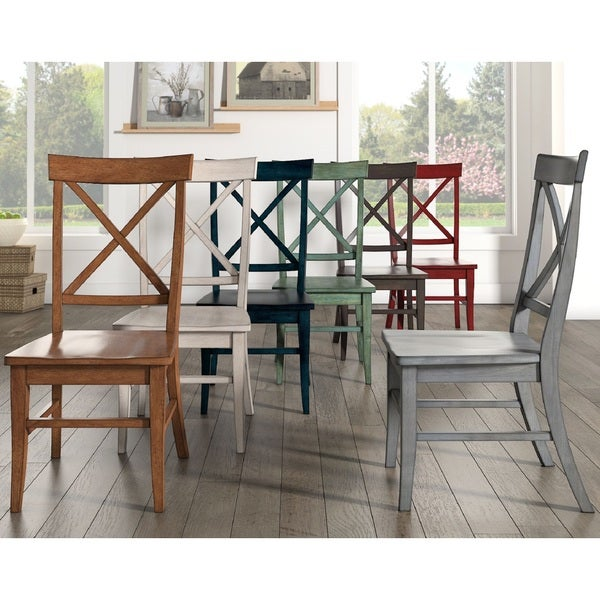 Eleanor X-Back Wood Dining Chair (Set of 2) by iNSPIRE Q Classic
