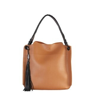 Diophy Large Hobo with Tassels Decoration Womens Purse - L