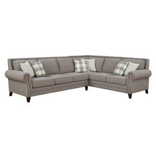 Emerald Home Willow Creek Gray Left Facing Sectional