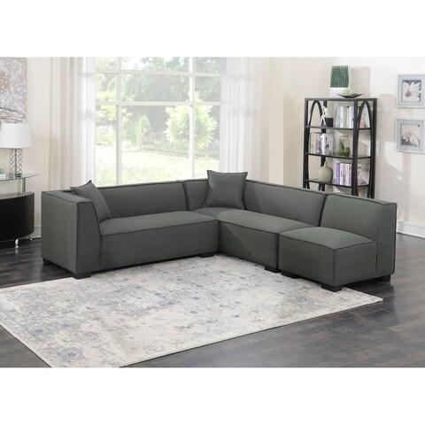 Emerald Home Lonnie cinder gray 3PC modular sectional U4331-03-3PCSET-K