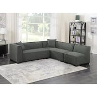 Emerald Home Lonnie cinder gray  3PC modular sectional U4331-03-3PCSET-K