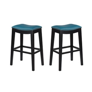 """Emerald Home Briar Traditional Red 30"""" Bar Stool (Set Of 2)"""