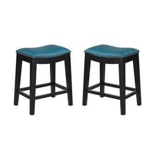 "Emerald Home Briar traditional red 24"" bar stool D107-24-02-2PK-K (Set of 2)"