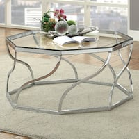 Furniture of America Andor Contemporary Chrome Coffee Table