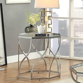 Furniture of America Andor Contemporary Chrome End Table