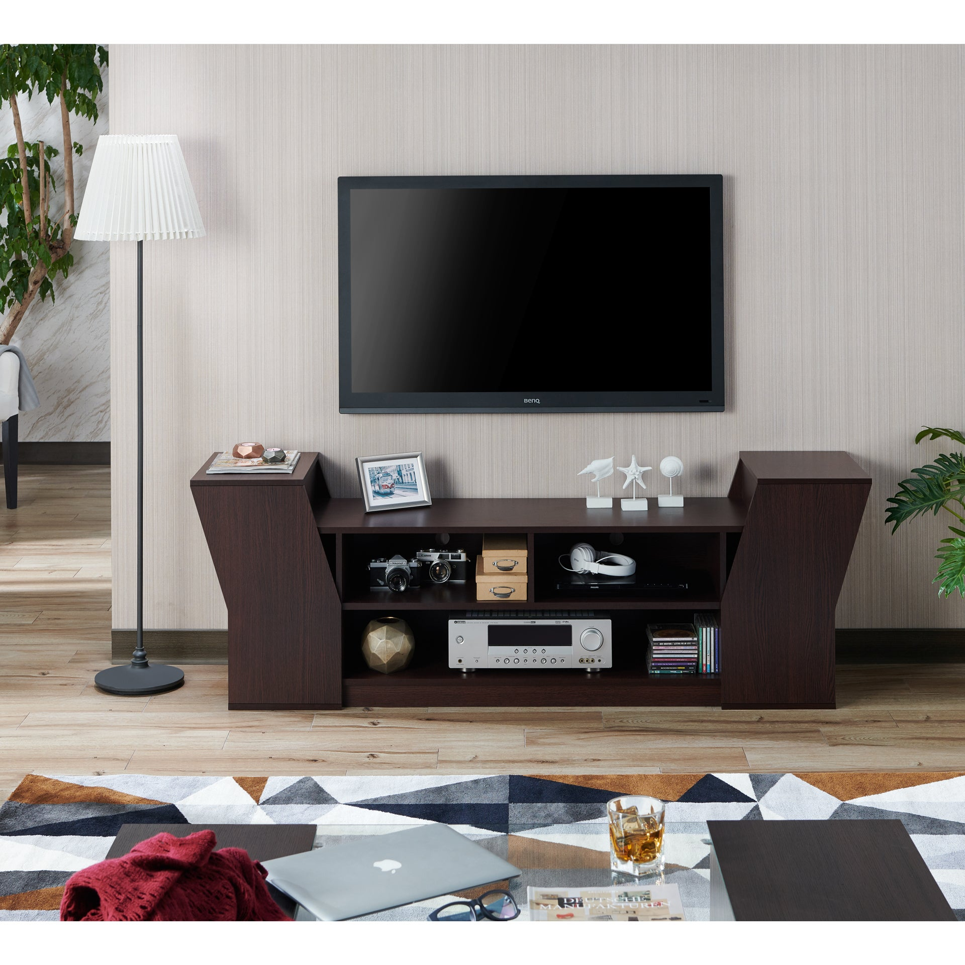 Furniture Of America Paulson Contemporary 70 Inch Tv Stand Ebay
