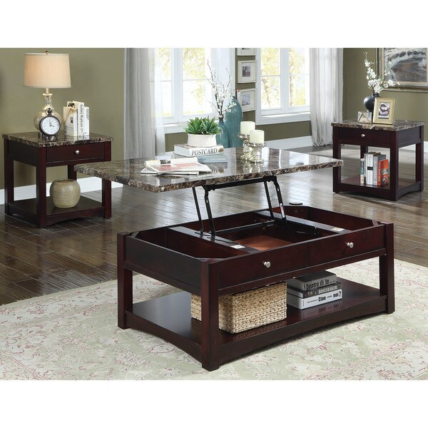 Lift Top Coffee Table Cherry: Shop Carson Transitional Brown Cherry Lift-top Coffee