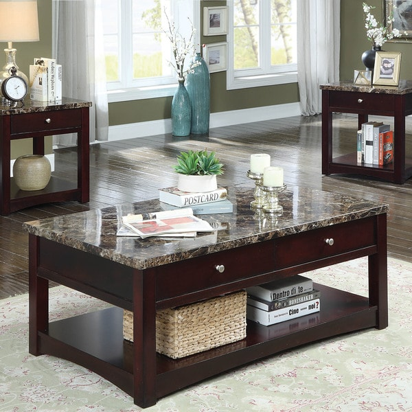 Furniture Of America Carson Transitional Brown Cherry Lift Top Coffee Table