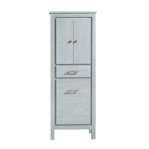 "Azzuri Riley 24 in. Linen Tower with Tilt Out Hamper - 24""W x 64.4""H"