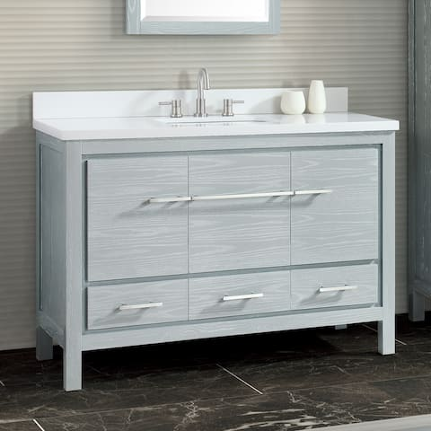Azzuri Riley 49 in. Bathroom Vanity Set with Quartz Top and Sink