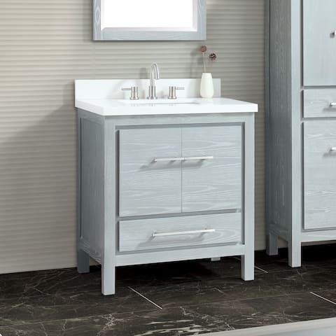 Azzuri Riley 31 in. Bathroom Vanity Set with Quartz Top and Sink