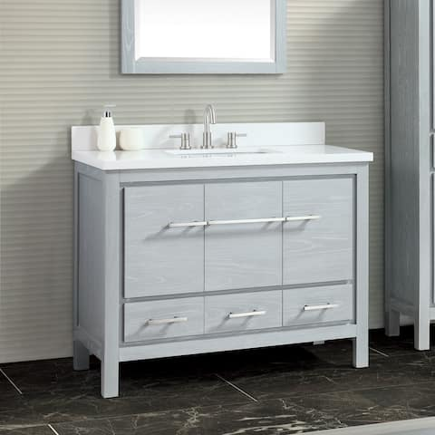 Azzuri Riley 43 in. Bathroom Vanity with Quartz Top and Sink