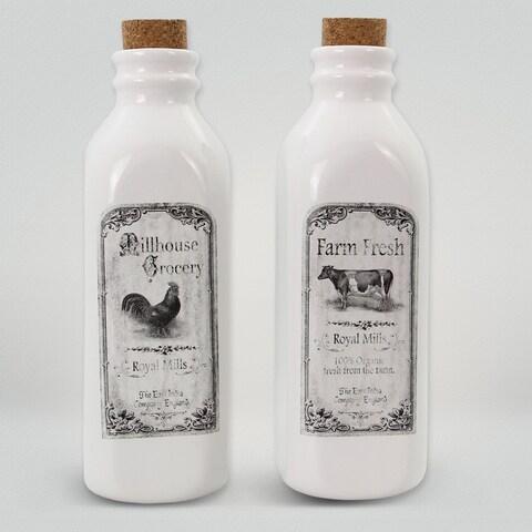 Ceramic Farmhouse Milk Jugs (Set of 2)