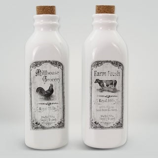 Ceramic Farmhouse Milk Jugs (Set of 2)