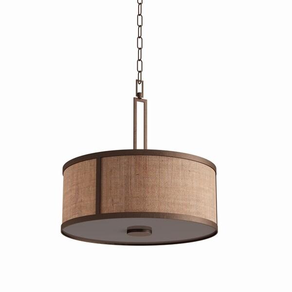 Carbon Loft Manistee 3-light Aged Bronze Pendant