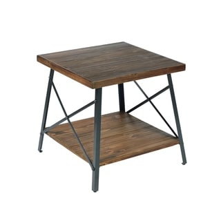 Carbon Loft Oliver Natural Fir Modern Rustic End Table
