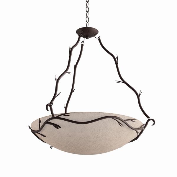 Carbon Loft Manistee Blackened Bronze 5-light Bronze Pendant