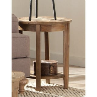 The Gray Barn Rosings Park Reclaimed Wood End Table with Shelf