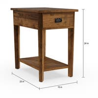 The Gray Barn Rosings Park Reclaimed Wood Side Table
