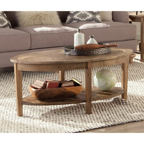 The Gray Barn Rosings Reclaimed Wood Oval Coffee Table