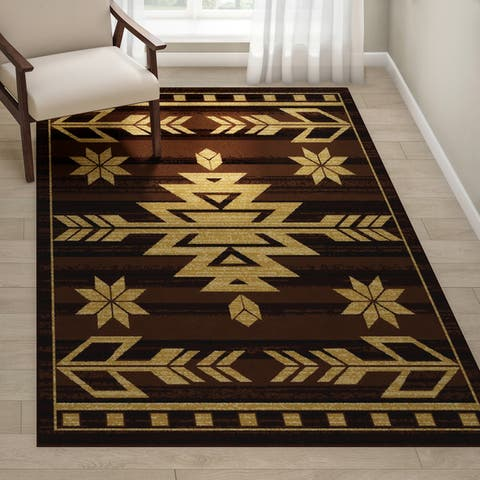 The Curated Nomad Azulejos Southwest Area Rug