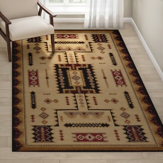 Copper Grove Alstromeria Geometric Area Rug - 5'3 x 7'2