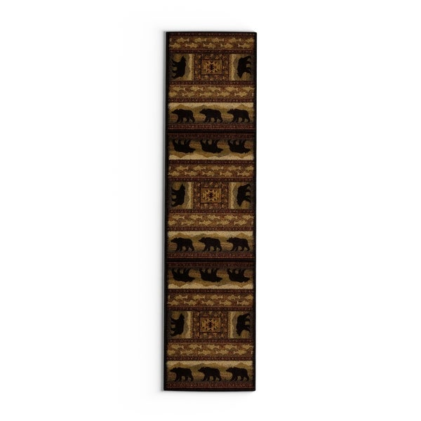 Copper Grove Welaka Bear Runner Rug - 1'10 x 7'2