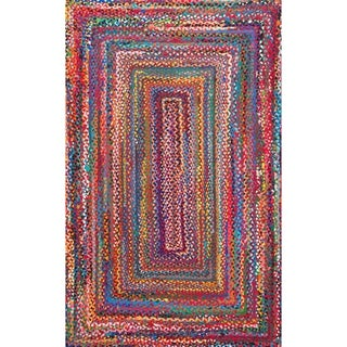 The Curated Nomad Grove Handmade Braided Cotton Area Rug (Multi - 6 x 9)
