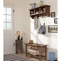 The Gray Barn Greenan Maze Storage Coat Hook with Bench Set