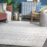 The Curated Nomad Ashbury Beaded Moroccan Area Rug