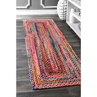 The Curated Nomad Grove Handmade Multicolor Runner Rug - 2'6 x 8'