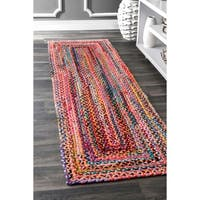 The Curated Nomad Grove Handmade Braided Multicolor Rug - 2' x 3'
