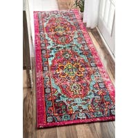 The Curated Nomad Beulah Abstract Oriental Runner Rug (2'6 x 12')