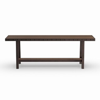 Pine Canopy Mendocino Distressed Walnut-finished Wood Rectangle Dining Table