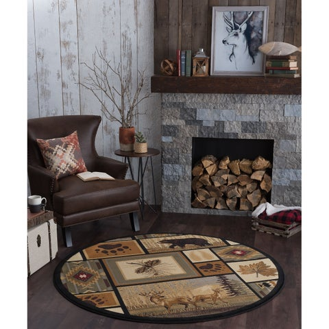 Copper Grove Cibola Novelty Area Rug - 7'10 Round