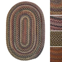 Pine Canopy Coconino Multicolored Wool Braided Rug (7' x 9')
