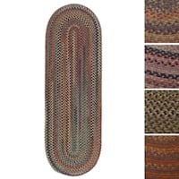 Copper Grove Coconino Multicolored Wool Braided Oval Runner Rug - 2' x 9'