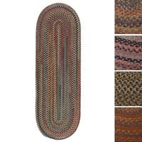 Pine Canopy Coconino Multicolored Wool Reversible Braided Oval Rug (2' x 10')