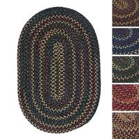 Pine Canopy Coconino Multicolored Reversible Oval Braided Rug (8' x 11')