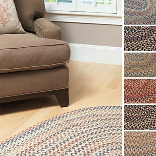 Pine Canopy Coconino Braided Textured Oval Runner (2' x 10')