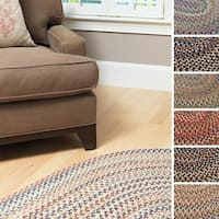 Greenwood Braided Textured Oval Runner USA MADE - 2' x 7'