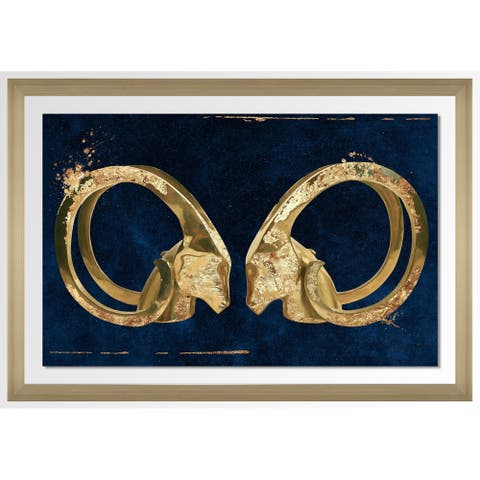 "BY Jodi ""Eye To Eye 4"" Framed Acrylic Wall Art Decor"