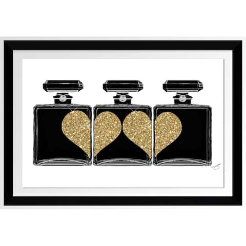 "BY Jodi ""Heart Of Gold"" Framed Acrylic Wall Art Decor"