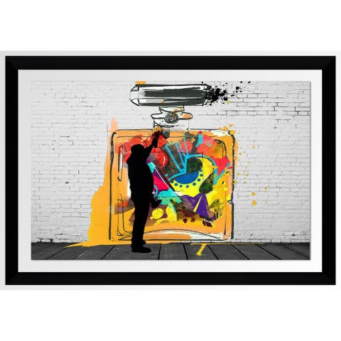 "BY Jodi ""On The Wall"" Framed Acrylic Wall Art Decor"