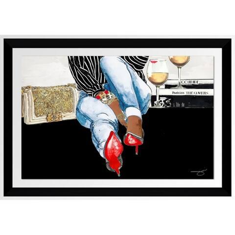 "BY Jodi ""Waiting On You"" Framed Acrylic Wall Art Decor"