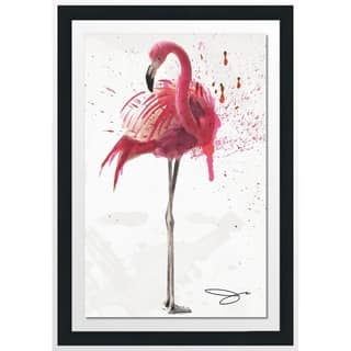 "BY Jodi ""Flamingo 2"" Framed Acrylic Wall Art Decor"