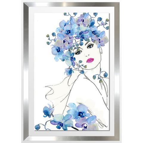 """BY Jodi """"In Bloom 1"""" Framed Acrylic Wall Art Décor"""
