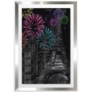 "BY Jodi ""Fire Works"" Framed Acrylic Wall Art Decor"